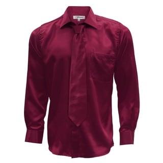 Link to Mens Satin Dress Shirt, Necktie, & Hanky Set - XS to Big & Tall Similar Items in Shirts