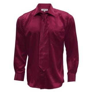 Mens Satin Dress Shirt, Necktie, & Hanky Set - XS to Big & Tall|https://ak1.ostkcdn.com/images/products/12194709/P19043034.jpg?impolicy=medium