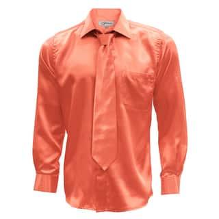Satin Mens Dress Shirt Necktie & Hanky Set - XS to Big & Tall|https://ak1.ostkcdn.com/images/products/12194712/P19043035.jpg?impolicy=medium