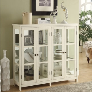 "Coaster Company Off-White 4-door Display Cabinet - 47"" x 15"" x 45.25"""
