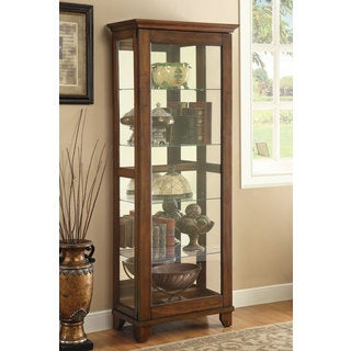 Coaster Company Warm Brown 5-shelf Curio Cabinet with Mirror Back