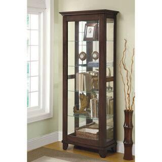Coaster Company Medium Brown Mirrored Can Light 5 Shelf Curio Cabinet