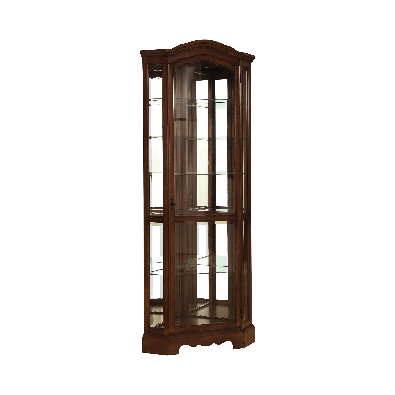 Coaster Company Brown Finish Glass 5 Shelf Corner Curio Cabinet 33 X 22 50 X 83 Overstock 12194722