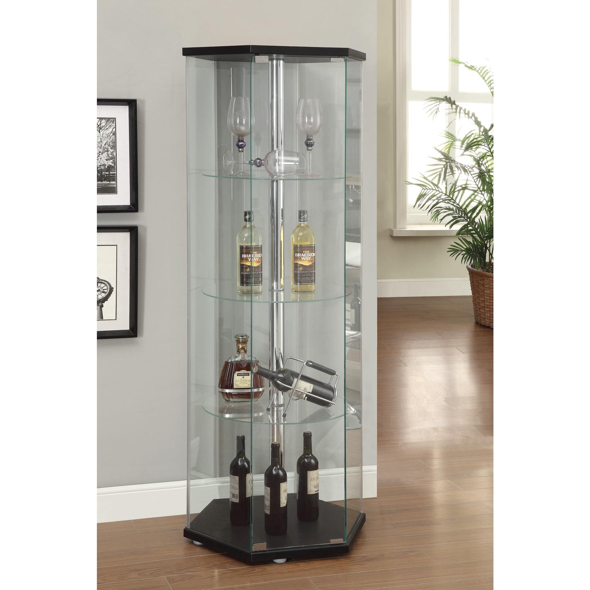 Coaster Furniture Hexagonal Curio Cabinet (Black)