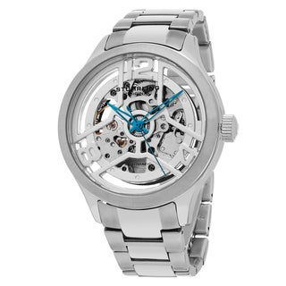 Stuhrling Original Men's Automatic Skeleton Winchester Stainless Steel Bracelet Watch