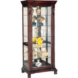 Coaster Company Deep Brown 6-shelf Rectangular Curio Cabinet