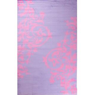 Ingenue Fairytale Purple Polypropylene Rug (3'4 x 5')