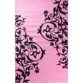 Ingenue Fairytale Pink Polypropylene Rug (3'4 x 5')