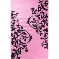"Ingenue Fairytale Pink Polypropylene Rug (3'4 x 5') - 3'4"" x 5'"