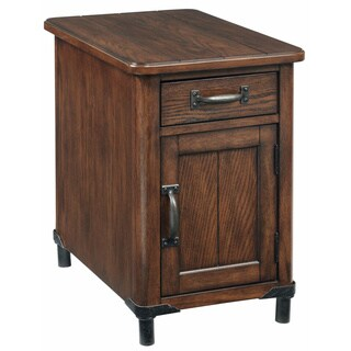 Broyhill Saluda Chairside Chest Distressed Oak Nightstand