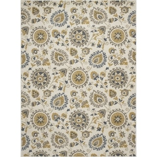 Machine-made Contempra Collection Joset Multi Polypropylene Rug (2'7X4'1)