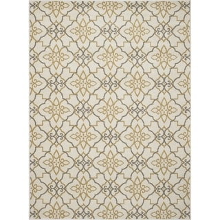 "Machine-made Contempra Collection Lattice Polypropylene Rug (2'7X4'1) - 2'7"" x 4'1"""