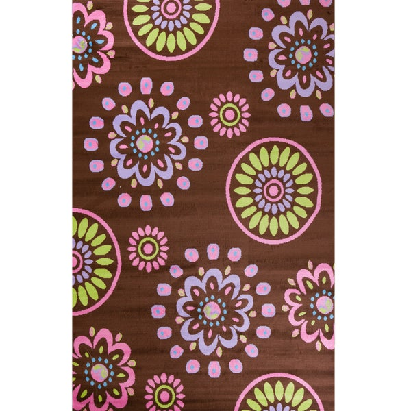 Machine-made Ingenue Collection Daydreams Multi Polypropylene Rug - 2'7 x 4'1