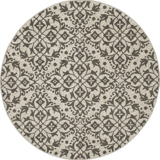 Machine-made Contempra Collection Melia Polypropylene Rug( 5'3 x 5'3)