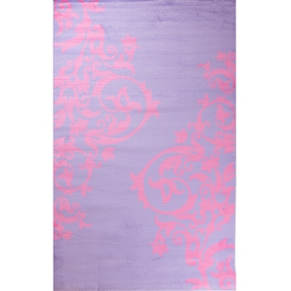 "Concord Global Alisa Fairytale Purple  Rug - 2'7"" x 4'1"""