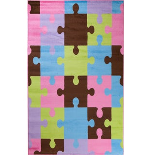 Machine-made Ingenue Collection Together Multi Polypropylene Rug( 2'7X4')
