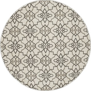 Machine-made Contempra Collection Lattice Polypropylene Rug(5'3 x 5'3)