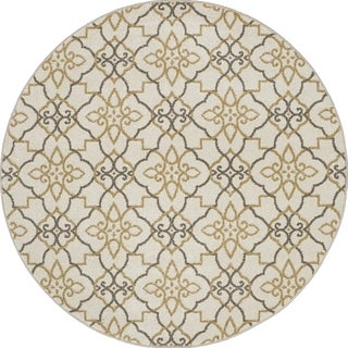 Machine-made Contempra Collection Lattice Polypropylene Rug( 7'10 x7'10)
