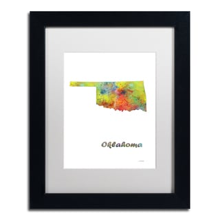 Marlene Watson 'Ohio State Map-1' Matted Framed Art