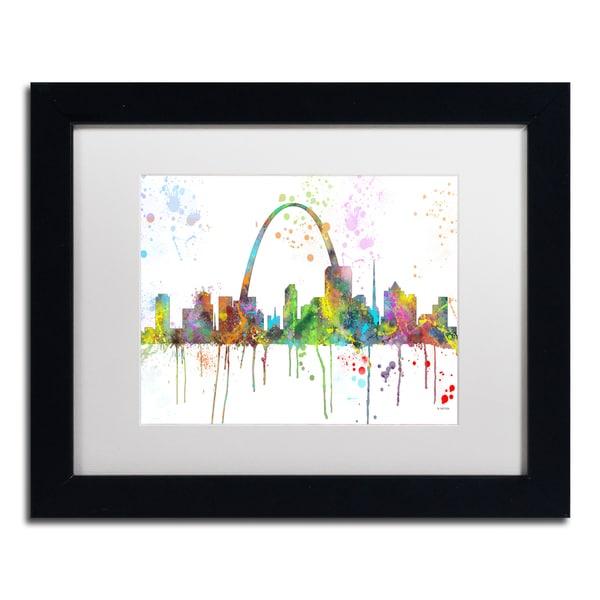 Marlene Watson 'St Louis Missouri Skyline Mclr-1' Matted Framed Art
