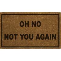 Home Dynamix Fiesta Collection 'Oh No Not You Again' Coir Mat (2' x 3')