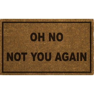 Home Dynamix Fiesta Collection 'Oh No Not You Again' Coir Mat (2' x 3')
