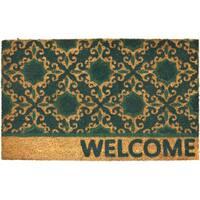 Home Dynamix Fiesta Collection 'Welcome' Trellis Coir Mat (2' x 3')