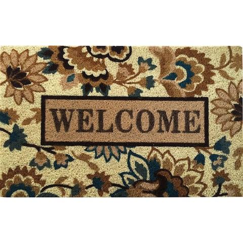 Home Dynamix Fiesta Collection 'Isabelle Welcome' Coir Mat (2' x 3')