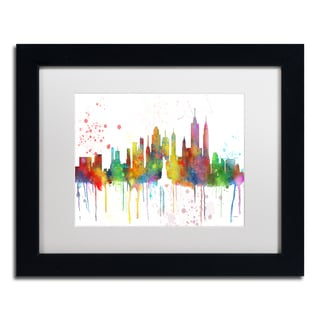 Marlene Watson 'New York New York Skyline Mclr-1' Matted Framed Art