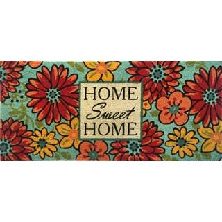 Home Dynamix Fiesta Collection 'Buton Home Sweet Home' Coir Mat (2' x 3')