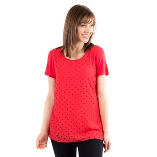 DownEast Basics Women's Pink Laser Sharp Top