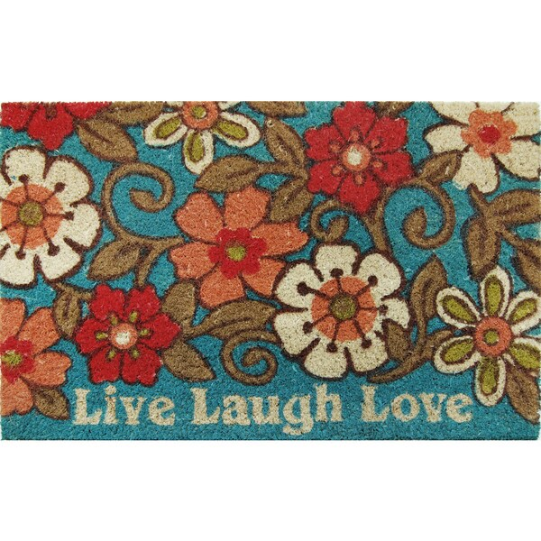Home Dynamix Fiesta Collection Live Laugh Love Coir Mat