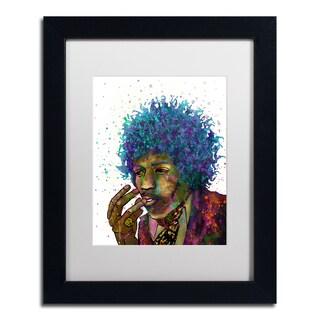 Marlene Watson 'Jimi Hendrix' Matted Framed Art