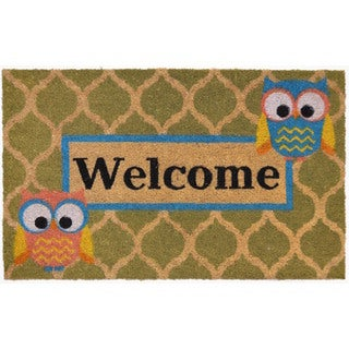 Home Dynamix Fiesta Collection 'Welcome' Who Coir Mat (2' x 3')