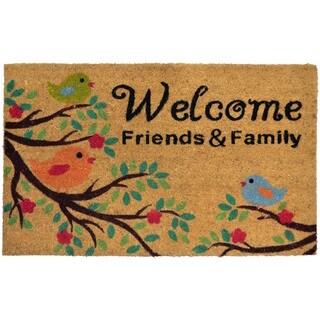 Home Dynamix Fiesta Collection 'Welcome Friends & Family' Coir Mat (2' x 3')