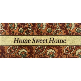 Home Dynamix Fiesta Collection 'Home Sweet Home' Coir Mat (2' x 3')