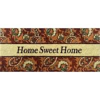 Home Dynamix Fiesta Collection 'Home Sweet Home' Coir Mat (2' x 3')