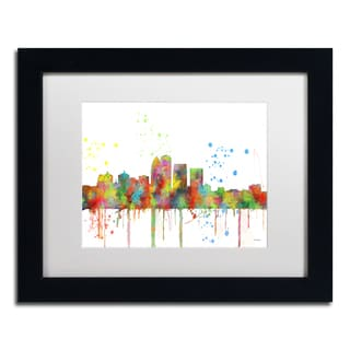 Marlene Watson 'Louisville Kentucky Skyline Mclr-1' Matted Framed Art