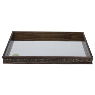 Pine Wood Tray with Mirror