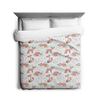 'Feeling Foxy' Fox Duvet Cover