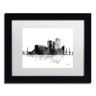 Marlene Watson 'Tucson Arizona Skyline BG-1' Matted Framed Art