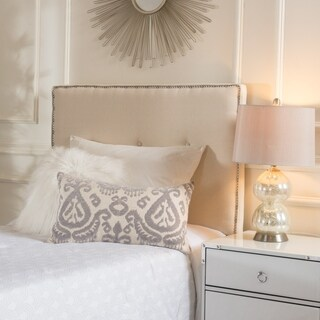 Mattea Twin Studded Fabric Kid Headboard by Christopher Knight Home