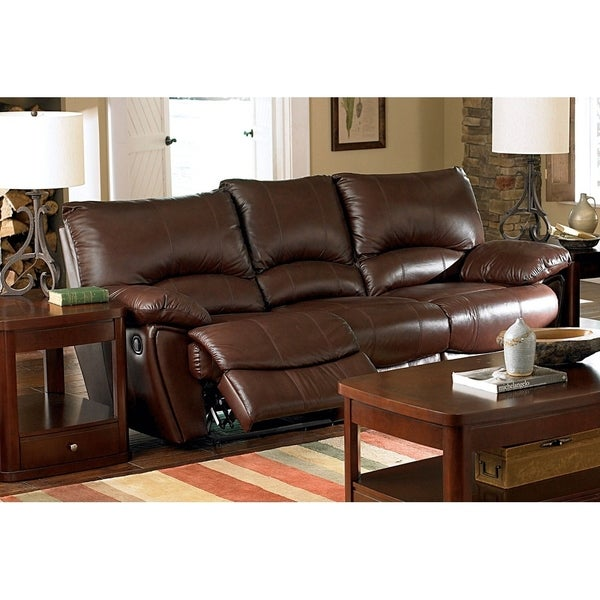 Shop Coaster Company Brown Leather Motion Sofa - On Sale - Free ...