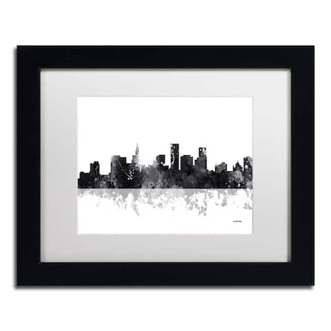 Marlene Watson 'St Paul Minnesota Skyline BG-1' Matted Framed Art