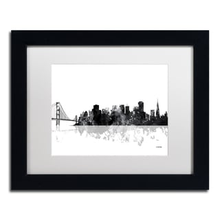 Marlene Watson 'San Francisco CA Skyline BG-1' Matted Framed Art