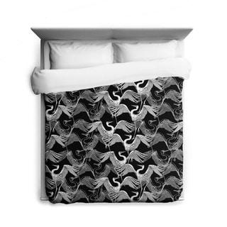 Flock of Swans Japanese-Pattern Duvet Cover
