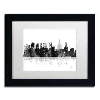 Marlene Watson 'Philadelphia Skyline BG-1' Matted Framed Art