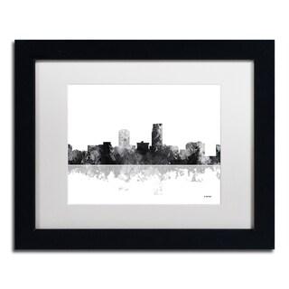 Marlene Watson 'Omaha Nebraska Skyline BG-1' Matted Framed Art