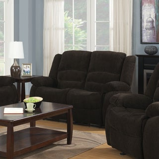 Coaster Company Brown Chenille Motion Recliner Sofa