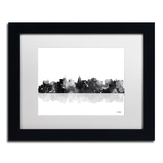 Marlene Watson 'Madison Wisconsin Skyline BG-1' Matted Framed Art